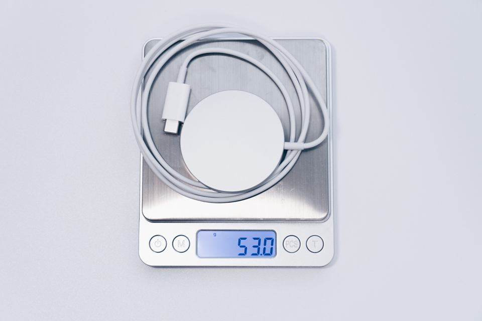 Apple MagSafe Chargerの重量