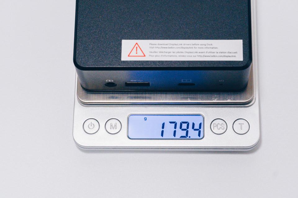 Belkin USB-Cデュアルディスプレイドッキングステーション本体重量
