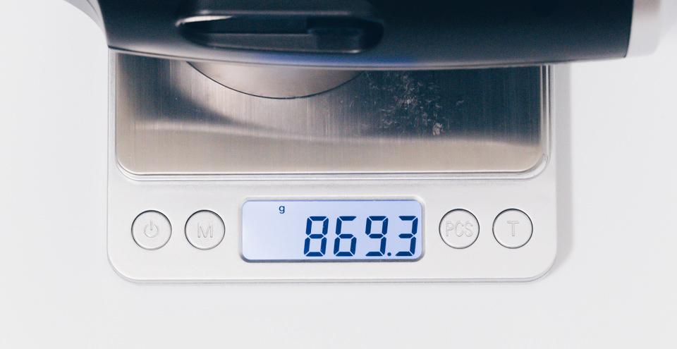 Naipo トータルボディケア リカバリーガンの重量