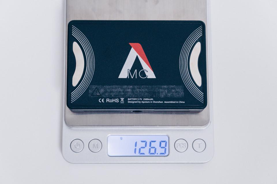 Aputure AL-MC本体の重量