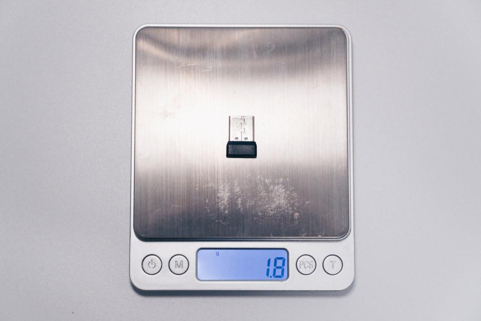 ロジクール M590に付属のUnifyingレシーバー重量