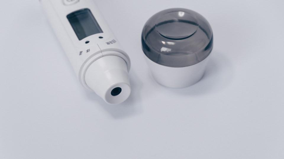 非接触スキャン体温計 700 TO-402WT本体センサー部分