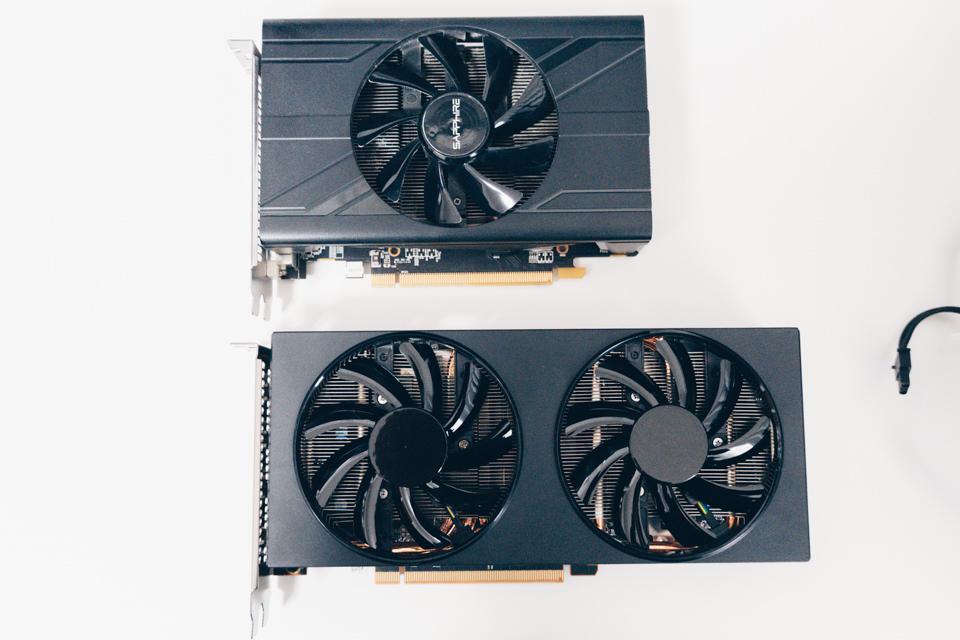 SAPPHIRE PULSE RADEON RX 570 MINI 4Gと玄人志向 RD-RX5700XT-E8GB/DFを比較