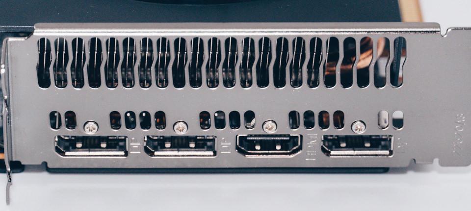 玄人志向 RD-RX5700XT-E8GB/DFの出力端子