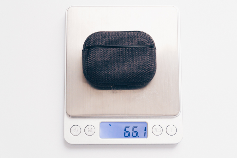 Incase AirPods Pro Case with Woolenexを付けた時の重量