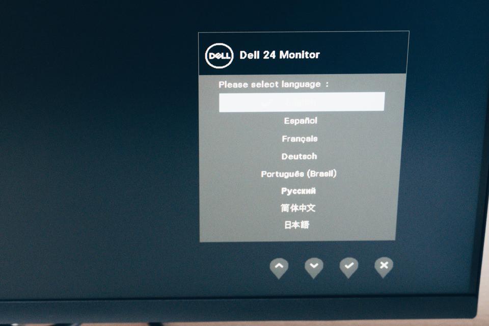 DELL S2421HNのOSD言語設定