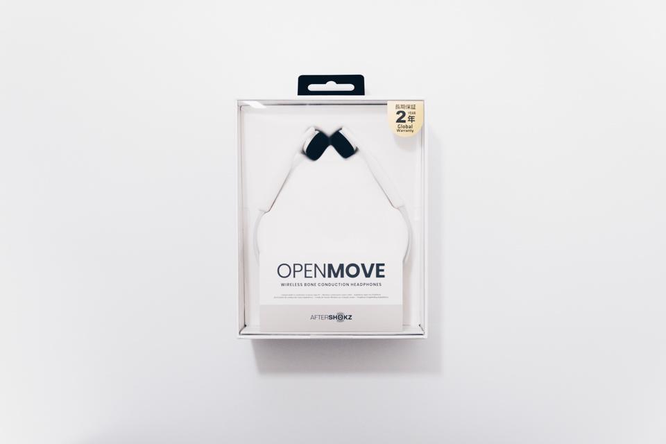 AfterShokz OpenMoveのパッケージ表面
