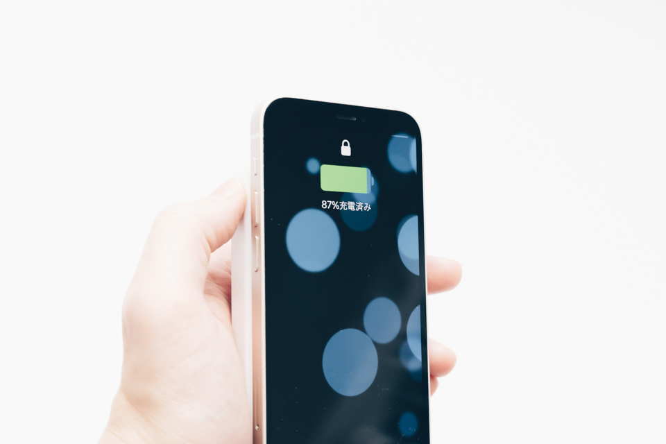 3COINSワイヤレスモバイルバッテリーでちゃんとワイヤレス充電ができています