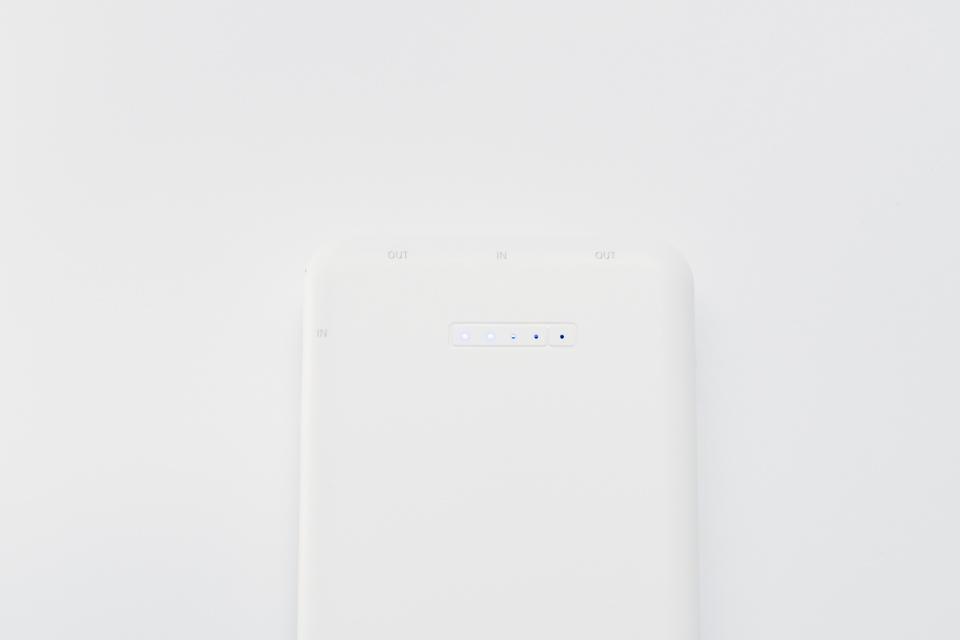 3COINSワイヤレスモバイルバッテリー本体にあるLEDランプ