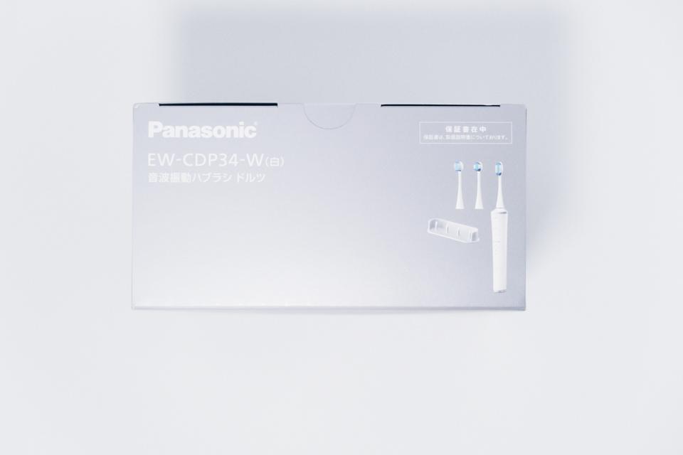 ドルツ音波電動歯ブラシ EW-CDP34のパッケージ上部